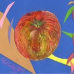 りんごの量感画